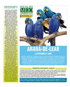 Na última capa, a esperança traduzida na  preservação das araras-azuis-de-lear - Imagem: Divulgação